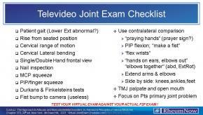 Telemedicine joint exam