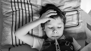 sick kid child temperature fever